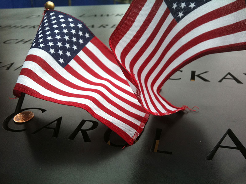 National September 11 Memorial, North and South Pool Bronze Name Parapets. Photo Credit: KC Fabrications