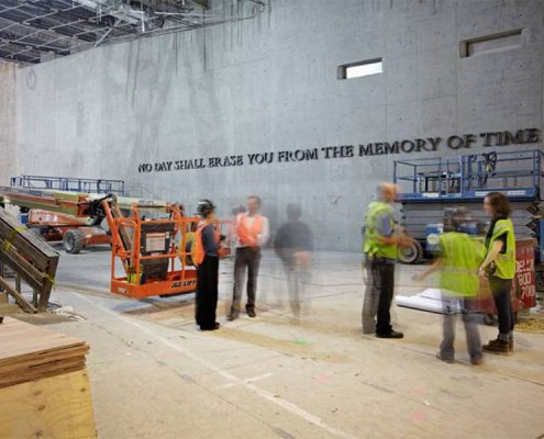 National September 11 Memorial Museum, Virgil Quote. Photo Credit: KC Fabrications