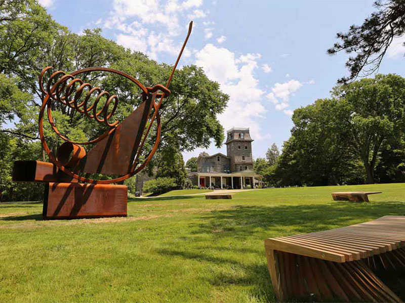 Dina Wind, Spring & Triangle. Woodmere Art Museum. Photo Credit: Woodmere Art Museum