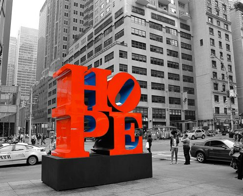 Robert Indiana, Hope. Photo Credit: KC Fabrications