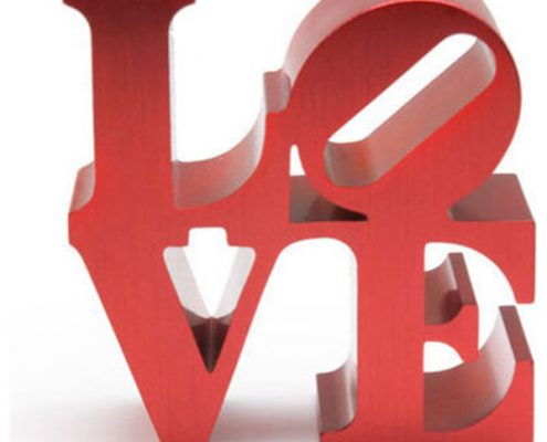 Robert Indiana, Love. Photo Credit: KC Fabrications