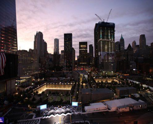 Ground zero at daybreak on Sunday. Credit James Estrin:The New York Times