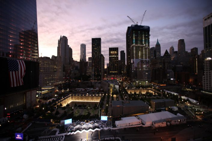 Ground zero at daybreak on Sunday. Credit James Estrin:The New York Times